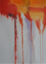"""Abstract 15: 082. Watercolour. 280 mm x 380 mm. """"Unsold""""."""