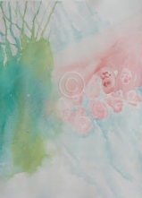 """Abstract 15: 083. Watercolour. 380 mm x 280 mm. """"Unsold""""."""