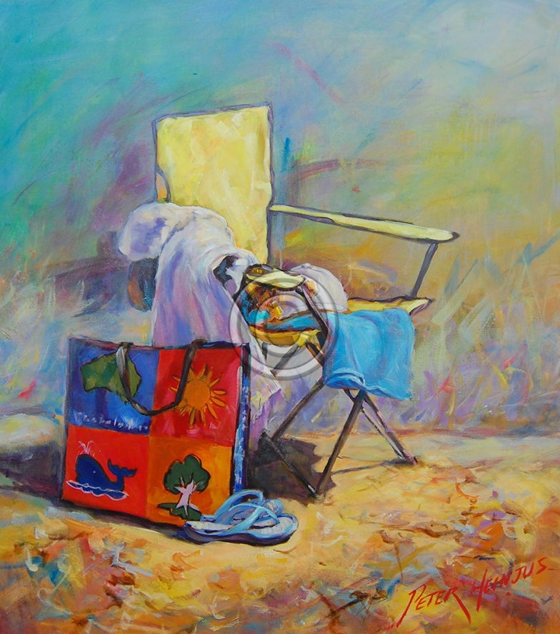"""Beachside. Acrylic on canvas. 800 mm x 600 mm. """"Sold""""."""