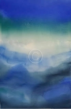 """Deep Water. Watercolour. 570 mm x 380 mm. """"Unsold""""."""