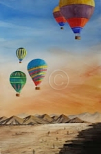 """Early Morning Delight. Watercolour. """"Sold""""."""