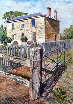 """PennyHill Winery. Watercolour. """"Sold""""."""