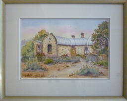 "Farmhouse Ruins, Mannum. Watercolour. ""Unsold""."