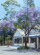 """Tranquility, Old Noarlunga 1. Acrylic on canvas. """"Sold""""."""