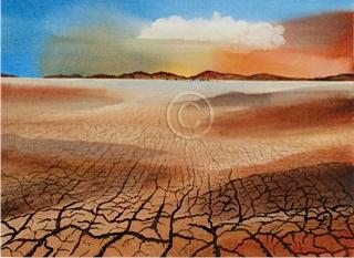 "Waiting For Rain. Watercolour. ""Sold""."