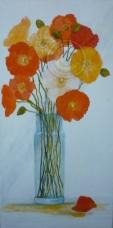 Falling Petal acrylic on stretch canvas 35 cm x 70 cm