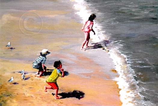 Braving the Waves 250 x 200 mm Oil Sold