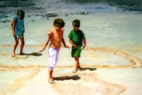 Circles in the Sand 360 x 300 mm Oil Sold