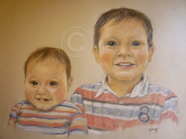 Dressed for a photo pencil on paper 40 x 30 cm commission
