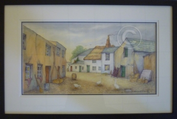Gray's Yard watercolour 680 mm x 450 mm collection