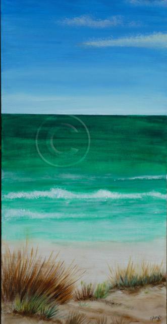 Horizons acrylic stretch canvas 30 x 60 cm sold
