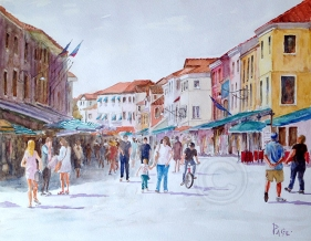 Interlude from Venice 460 X 560 mm Watercolour Own collection