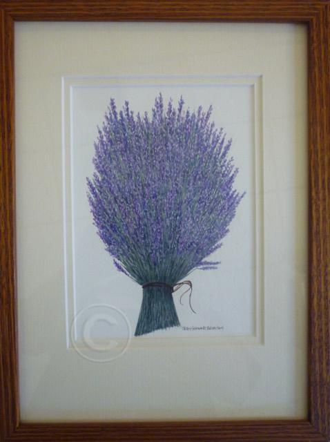 Lavender watercolour 230 mm x 300 mm