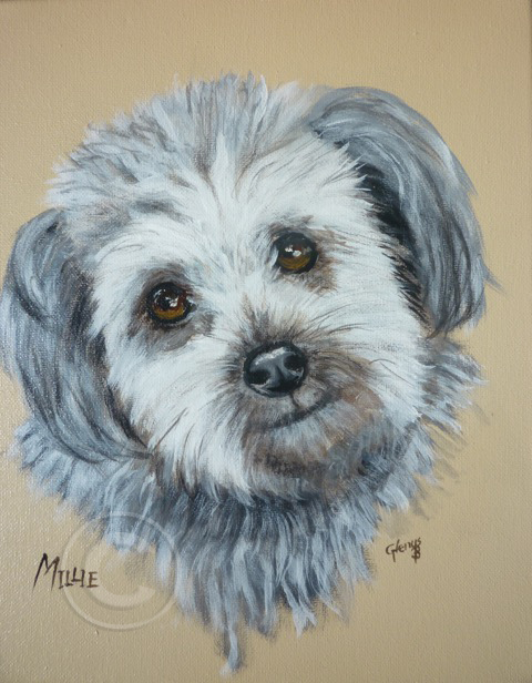 Millie acrylic stretch canvas 24 x 24 cm sold
