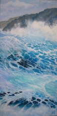Turbulent Water acrylic 30 x 60 cm sold
