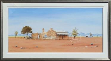 """Abandoned Farm SA Acrylic, Framed, 80 x 40 cms """"$450.00"""""""