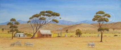 "Country Scene 2 SA Acrylic, SC, 80 x 40 cms ""$300.00"""