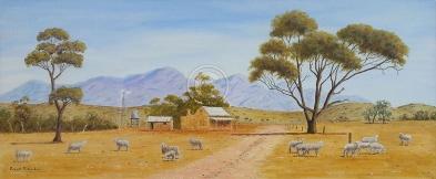"Country Scene SA Acrylic, SC, 80 x 40 cms ""$300.00"""