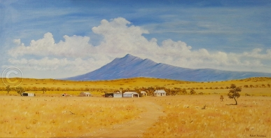 "Devil's Peak Oil, SC, 80 x 40 cms ""$300.00"""