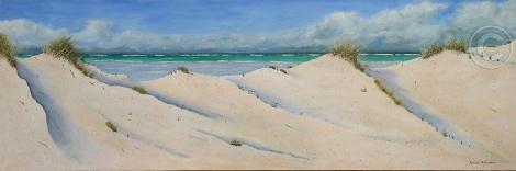 """Seascape 1 Acrylic, SC, 120 x 40 cms """"$395.00"""""""