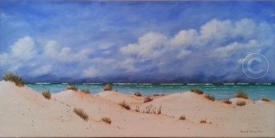 "Seascape 2 Acrylic, SC, 60 x 30 cm ""$175.00"""