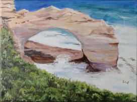 The arch, great Ocean Road 'Watercolour' 4700 x 300, Unframed 'Artists Collection'