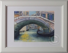 Love Venice 'Watercolour' 48 cm x 38 cm, Framed, 'Unsold'