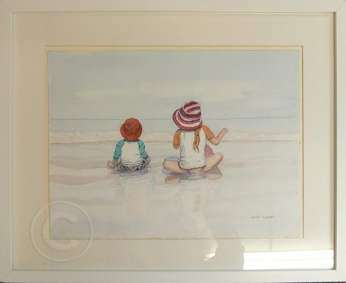Summer Days 'Watercolour' 52 cm x 43 cm, Framed, 'Not For Sale'