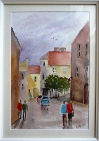 After the storm. Watercolour, framed, 280 x 360 mm
